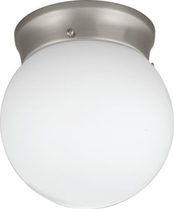 Lithonia Lighting 6 in. 9W LED Globe Fixture in Brushed Nickel LFMGLOL68830BNPM4