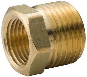 1/2 x 1/4 in. MNPT x FNPT Brass Reducing Barstock Hex Bushing BRBBDB