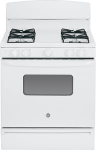 General Electric Appliances 30 in. Standard Clean Free Standing Gas Range in White 120V GJGBS10DEFWW