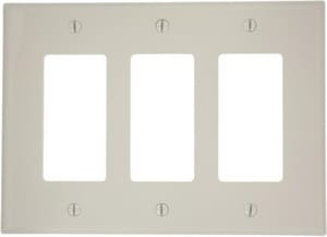 Leviton Decora® 3-Gang Thermoplastic Nylon Wall Plate in Light Almond LPJ263T