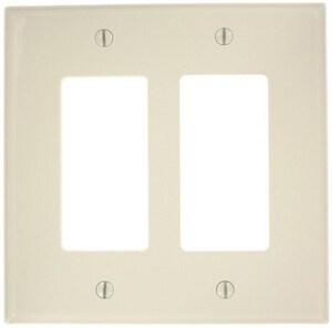 Leviton Decora® 2-Gang Thermoplastic Nylon Wall Plate in Light Almond LPJ262T