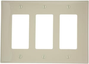 Leviton Decora® 3-Gang Thermoplastic Nylon Wall Plate in Ivory LPJ263I