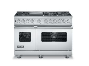 Viking Range 48 in. 6-Sealed Burner LP Dual Fuel Self Cleaning Range VVDSC5486GLP