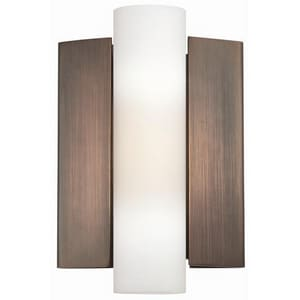 Nuvo Lighting Chase 1-Light Wall Mounted LED Wall Sconce in Hazel Bronze with Etched Glass Shade N62121