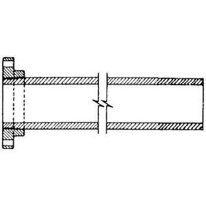 Custom Fab 2 ft. Bituminous Tar Coated Flanged x Plain End Ductile Iron Pipe FPPXK