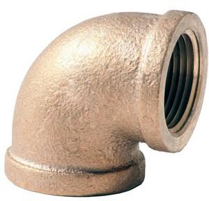 1 in. FNPT Brass Straight 90 Degree Elbow BR9G