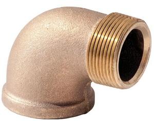 1 in. MNPT x FNPT Brass Import Street 90 Degree Elbow IBRS9G