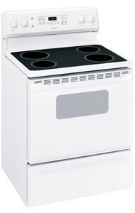 General Electric Appliances Hotpoint® 46-7/8 x 29-7/8 in. 5 cf 4-Burner Freestanding Electric Range in White GRB787DPWW
