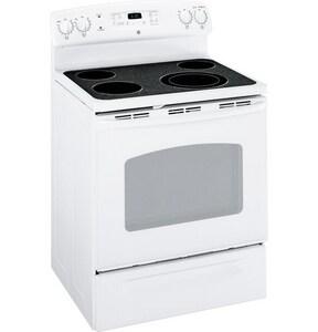 General Electric Appliances 29-7/8 in. 5.3 cf 4-Burner Freestanding Electric Range GJBP66DM