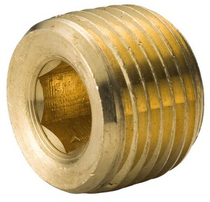 1/4 in. MNPT Countersunk Brass Plug BRBCSPB