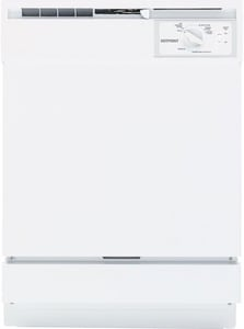 General Electric Appliances Hotpoint® 24 in. 5-Cycle Built-In Full Console Dishwasher in White GHDA2100V