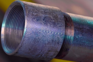 1/2 in. x  21 ft. Schedule 40 Black Coated Threaded and Coupled Carbon Steel Pipe GBPTCA53D