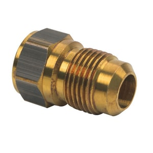 Brass Craft 1/2 x 3/8 in. OD Flare x FIP Brass Union B46