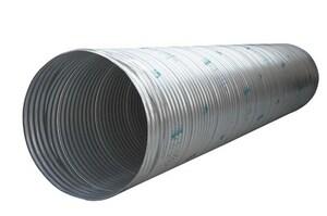 Contech Construction 60 in. 12 ga Corrugated Aluminum Solid Pipe CASP126020