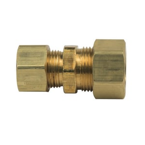 Brass Craft 1/4 in. OD Tube Brass Compression Union B624X