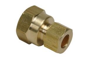 PROFLO® 1/4 x 3/8 in. OD Compression x FIP Brass Union PFXFCUBC
