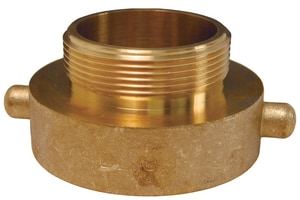 Dixon Valve & Coupling 2-1/2 in. FNST x 1-1/2 in. MNPT Brass Hydrant Adapter Pin Lug DHA2515T