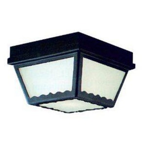 Thomas Lighting 60 W 2-Light Outdoor Semi-Flush Mount Ceiling Fixture in Black TSL7597
