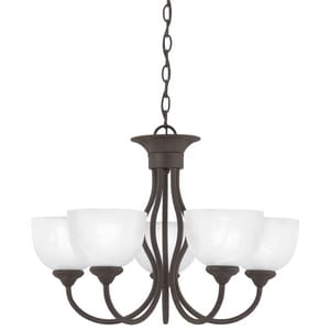 Thomas Lighting Tahoe 100 W 5-Light Medium Chandelier in Painted Bronze TSL801563