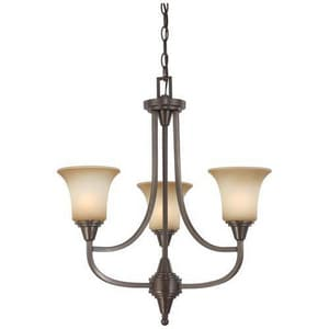 Nuvo Lighting Surrey 60 W 3-Light Medium Chandelier in Vintage Bronze N604165