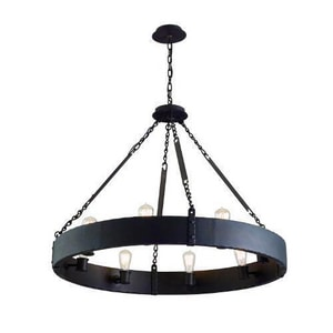 Troy-CSL Lighting Jackson 60 W 8-Light Medium Pendant in Copper Bronze TF2504CB