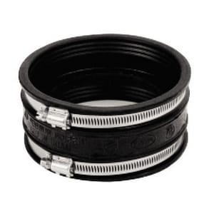 Mission Rubber Band-Seal® 6 in. Clamp Straight PVC Adjustable Repair Coupling M0406751