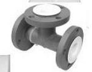 PSI Lined Piping Systems Flanged 150# PTFE Tee Ductile Iron Tee P1200