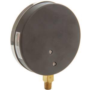 H.O. Trerice 1/4 x 4-1/2 in. Pressure Gauge in Brass T600CB4502LA110