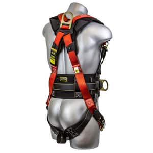 Guardian Fall Protection Seraph Construction Harness with Side D-Ring in Black|Red G11173