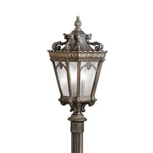 Kichler Lighting Tournai 60W 120V 3-Light Candelabra Outdoor Post Mount KK9558