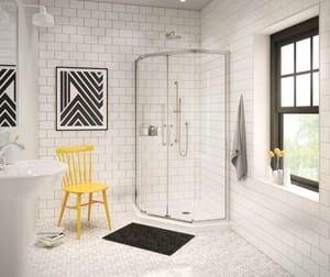 Maax US 36 x 36 in. Single Threshold Neo Angle Shower Base with Center Drain in White M101422000