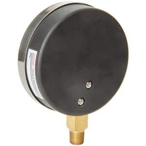 H.O. Trerice 600CB Series 3-1/2 x 1/4 in. Brass Pressure Gauge T600CB3502LA