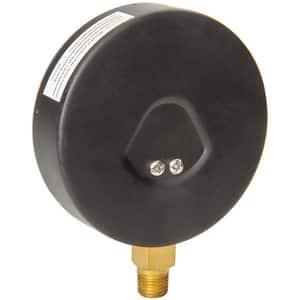 H.O. Trerice 800B Series 4 x 1/4 in. Steel-Brass Lower Mount Pressure Gauge T800B4002LA
