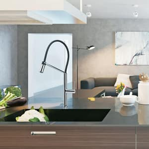 Franke Consumer Products Chillout™ 1.75 gpm 1-Hole Pull-Down Kitchen Sink Faucet with Single Lever Handle FFF49