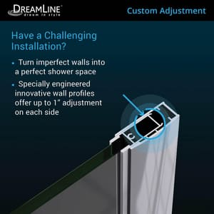 Dreamline® Elegance 60 in. Frameless Pivot Shower Door with Tempered Glass DSHDR4158720
