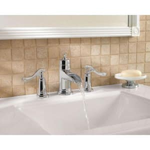 Pfister Ashfield™ Widespread Lavatory Faucet with Double Lever Handle PGT49YP1