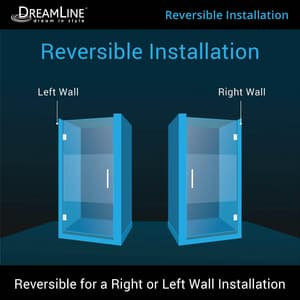 Dreamline® Unidoor 72 in. Frameless Hinged Shower Door with Frosted Glass DSHDR20247210FHF