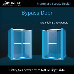 Dreamline® Charisma 60 in. Frameless Sliding Shower Door with Clear Glass DSHDR1360760