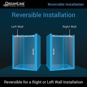 Dreamline® Enigma Air 60 in. Frameless Sliding Shower Door with Clear Tempered Glass DSHDR64607610