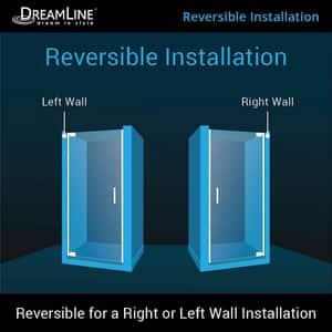 Dreamline® Elegance 36 in. Frameless Pivot Shower Door with Tempered Glass DSHDR4134720