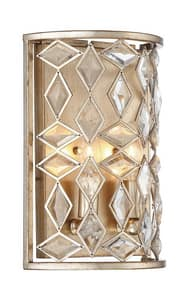Park Harbor® Cross Pointe 12-1/4 in. 60W 2-Light Wall Sconce in Antique Silver Leaf PHWL3272ASL