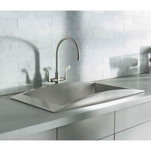 Kohler Essex® Double Wristblade Handle Kitchen Faucet K8762