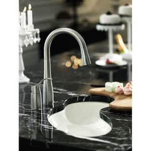 Kohler Simplice® 1.8 gpm 2-Hole Single Lever Handle Pull-Down Section Faucet K649