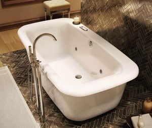 Maax US Miles 66 x 36 x 24 in. 61 gal Acrylic Free Standing Tub in White M105756000001