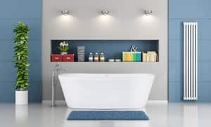 Hydro Systems Sydney Composite Floor Mount Oval Bathtub Only with Center Drain HNEW6632MTO