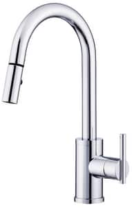 Danze Parma® Trim Line 1-Hole Pull-Down Kitchen Faucet with Single Lever Handle DD453558
