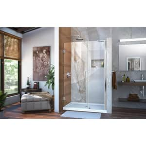 DreamLine Unidoor 46 in. Frameless Hinged Shower Door with Tempered Glass DSHDR20457210
