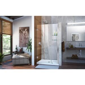 DreamLine Unidoor 41 in. Frameless Hinged Shower Door with Tempered Glass DSHDR20407210S
