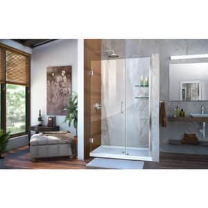 Dreamline® Unidoor 47 in. Frameless Hinged Shower Door with Clear Tempered Glass DSHDR20467210S