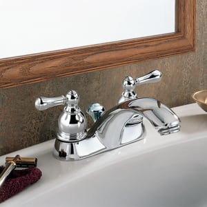 American Standard Hampton® 1.2 gpm 3-Hole Centerset Lavatory Faucet with Double Lever Handle A7411732
